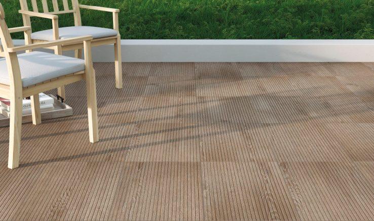 Azulejos efecto tarima cerámica para exterior