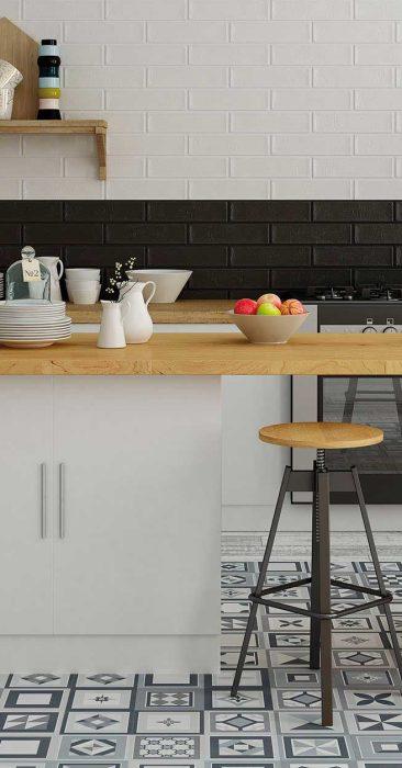 Reformar la cocina con azulejos modernos