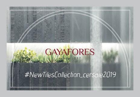 icono catalogo novedades Cersaie 2019 Gayafores