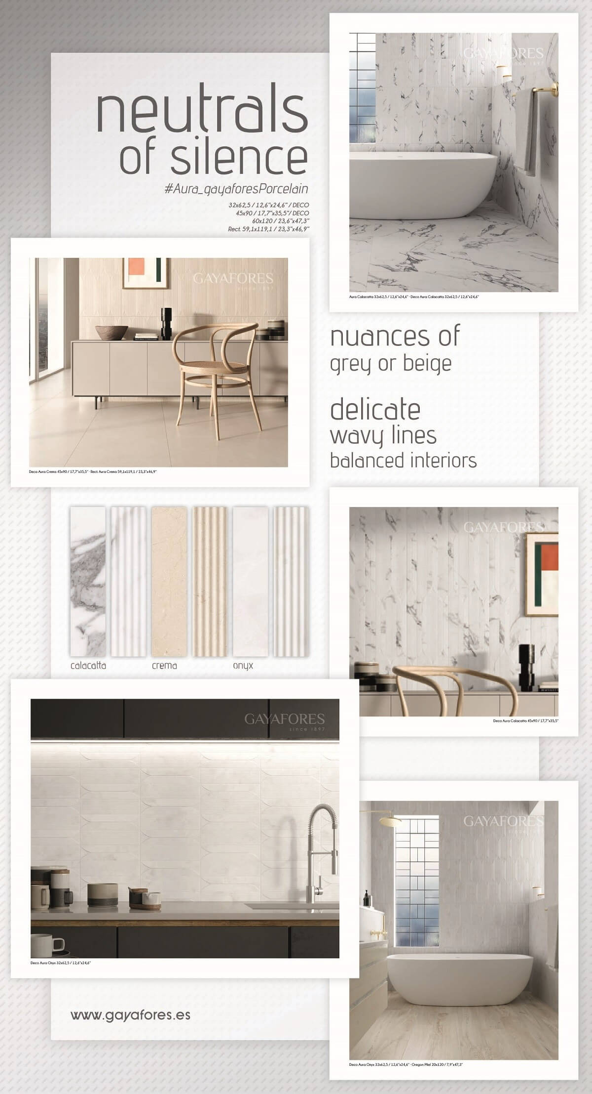 Moodboard made with Aura Collection Gayafores