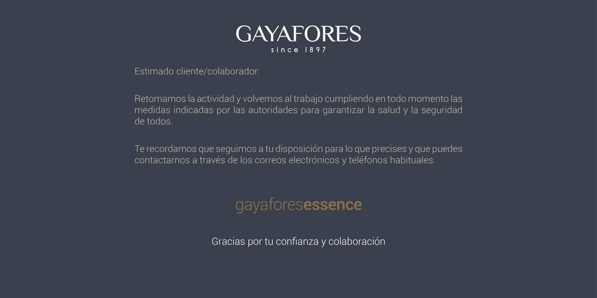 Gayafores is back to work 1