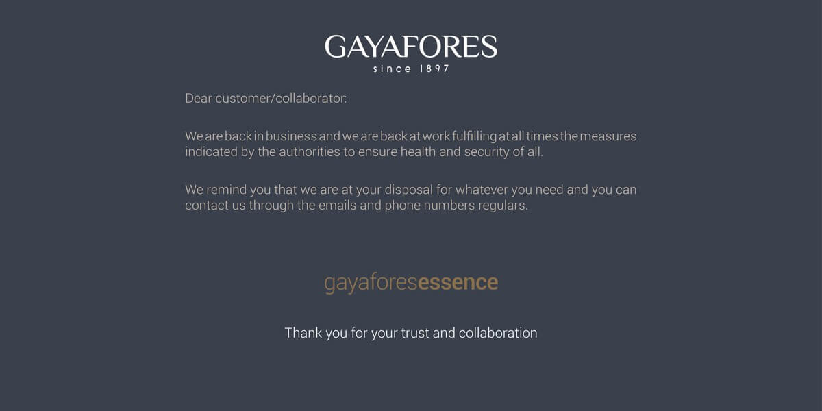 Gayafores is back to work 3