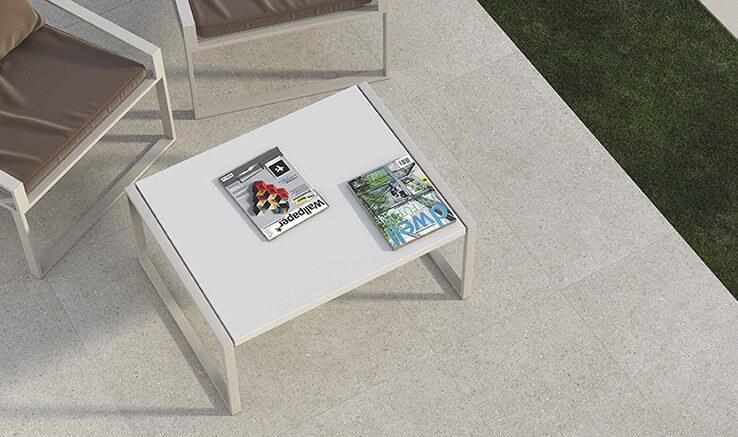 Mejor suelo porcelanico para exterior - Serie Sassi Anti Slip