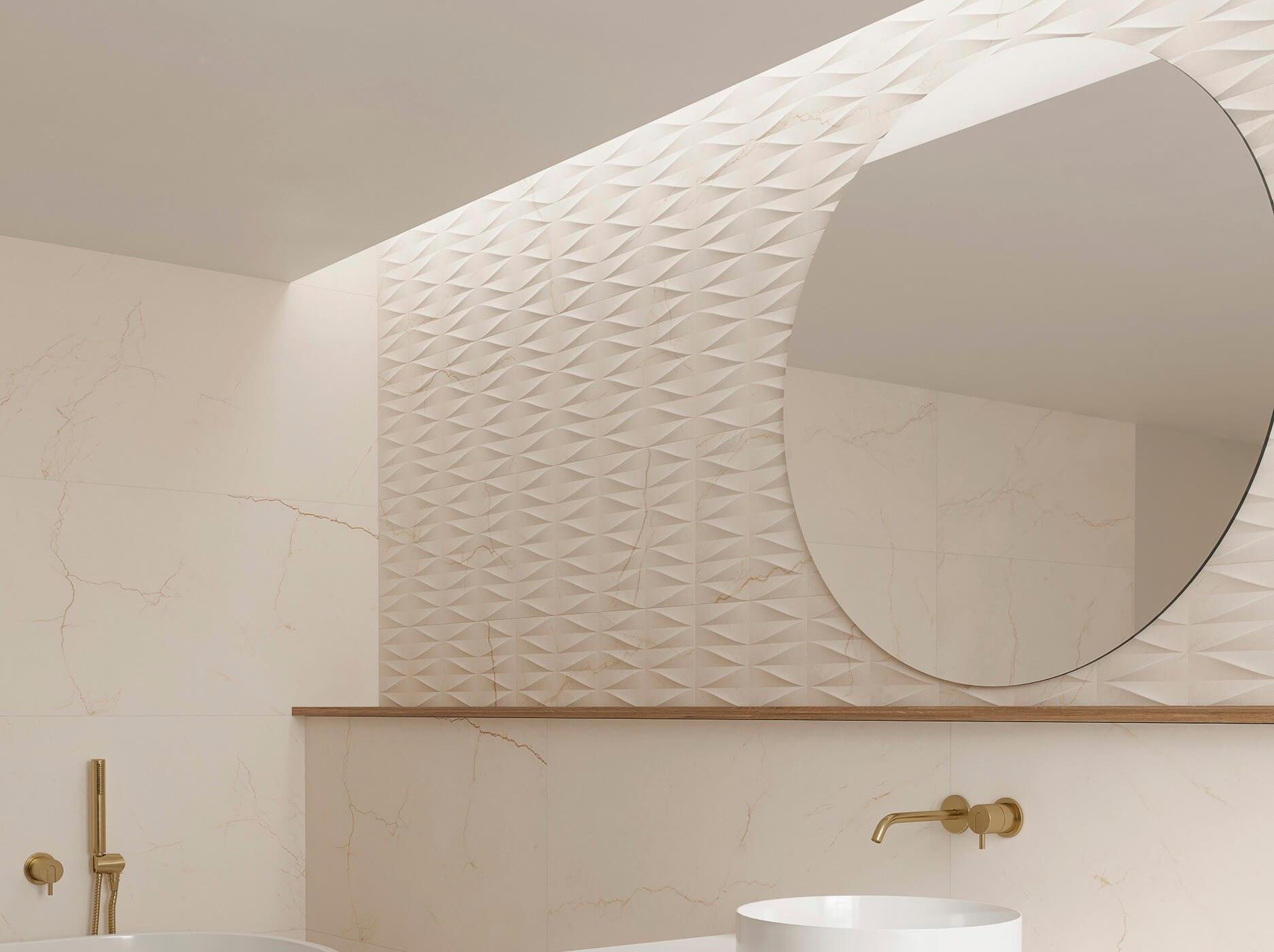 Gayafores Crema Avorio marble porcelain tiles