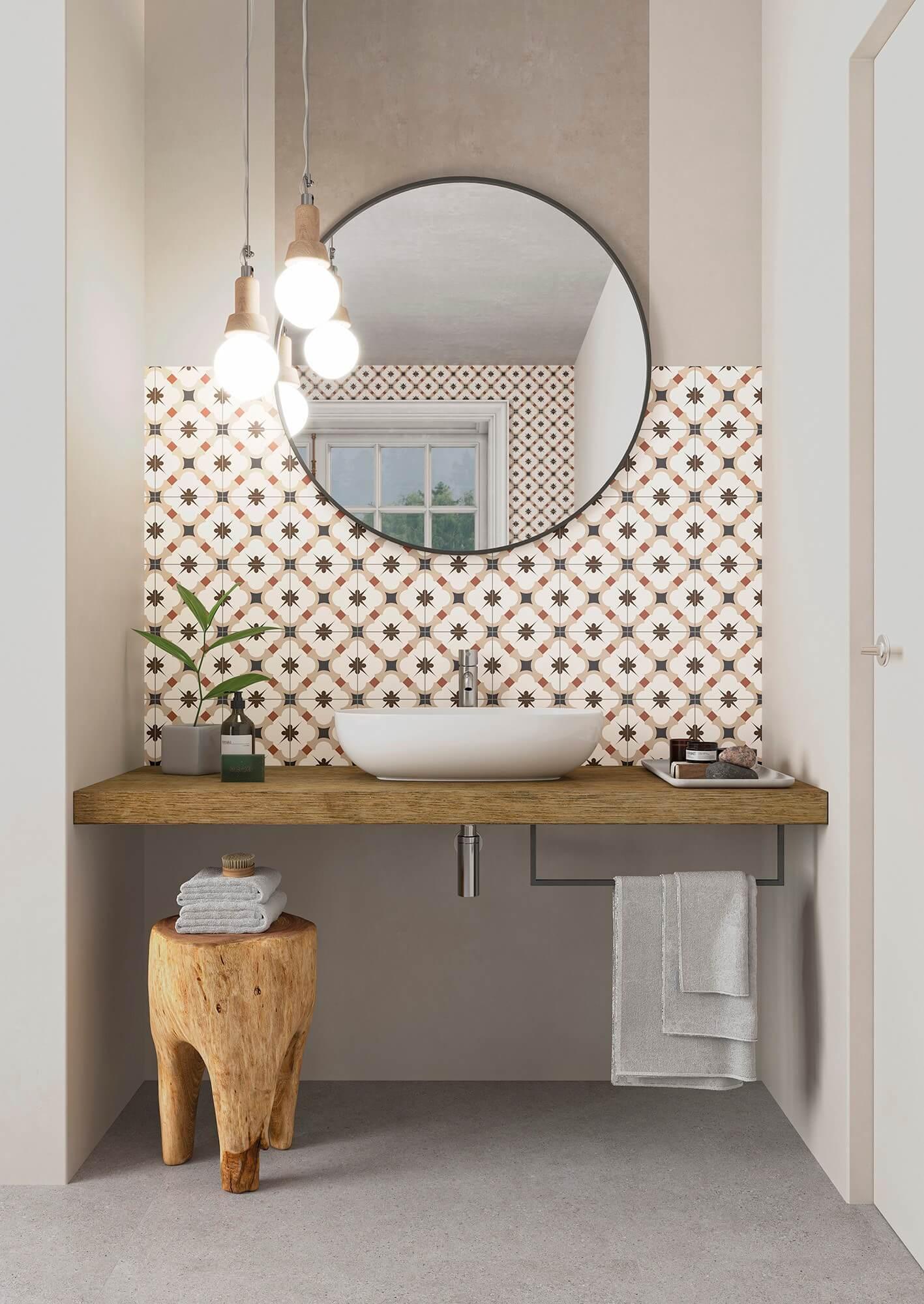 gayafores grace beige hydraulic tiles hidráulicos