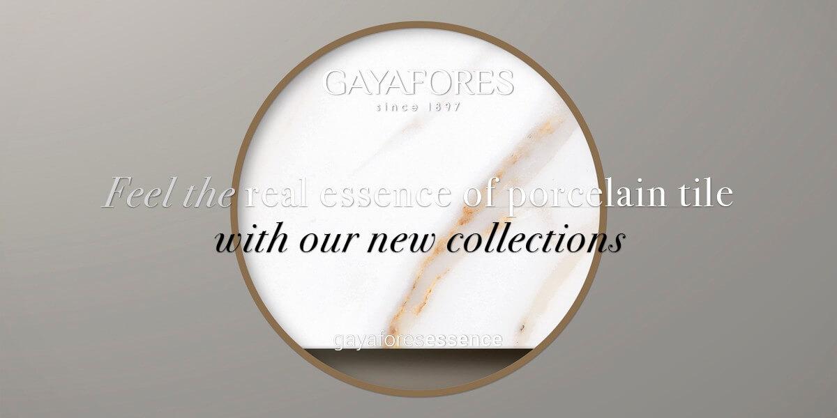Gayafores Calacatta Gold new porcelain tiles collection