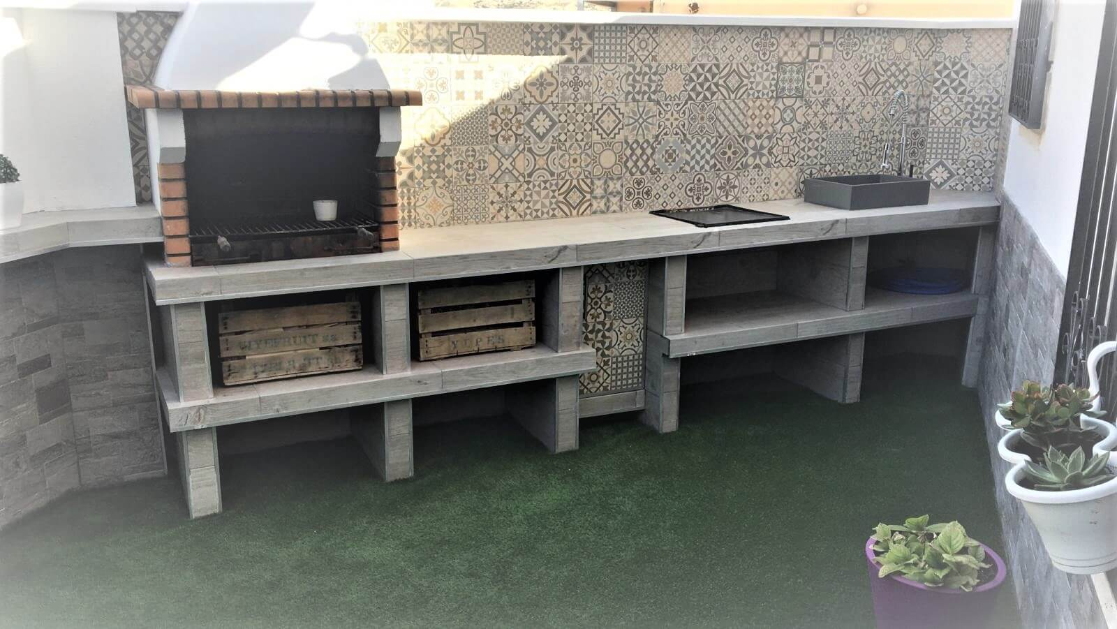 Patio in a private home with Gayafores' products