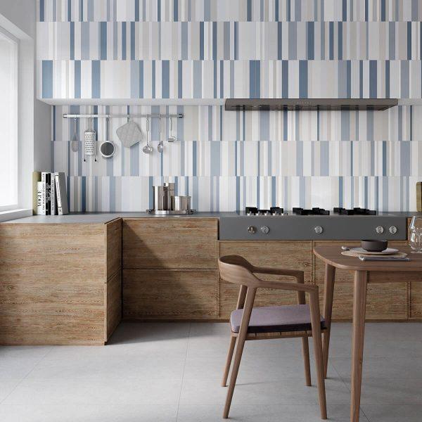 foto brick gradient blue cocina