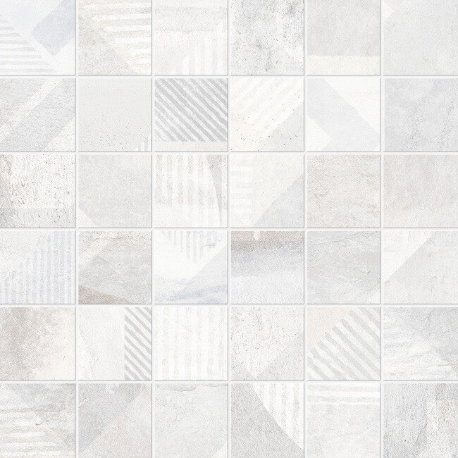 mosaico deco brooklyn blanco 30x30