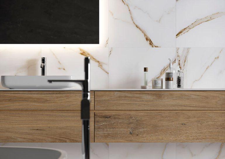 foto calacatta gold banyo