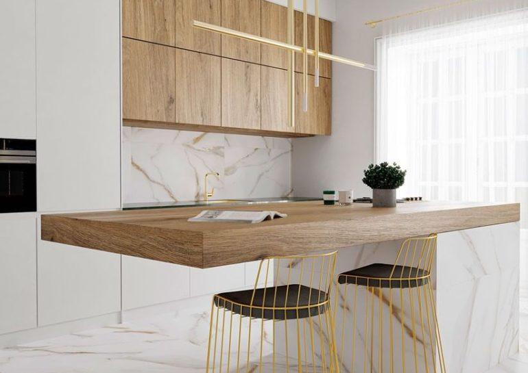 foto calacatta gold cocina