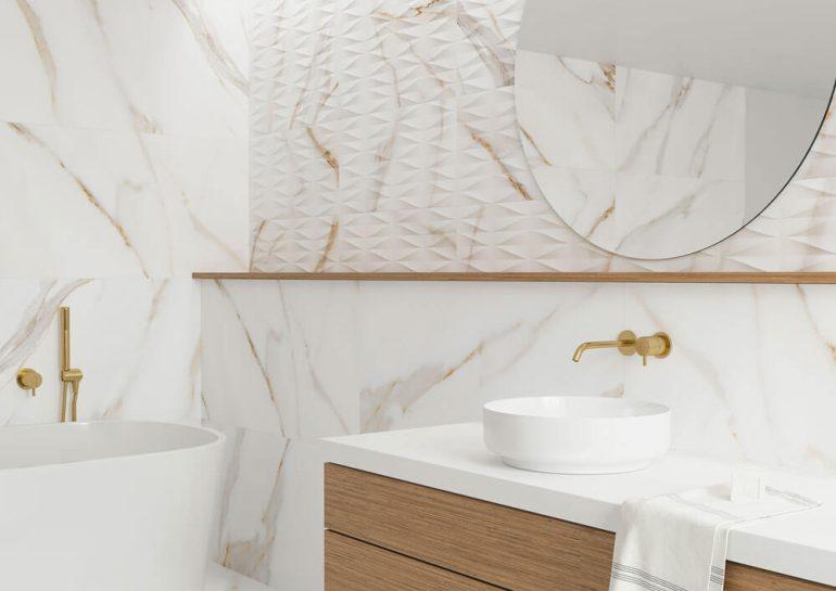 foto deco calacatta gold banyo