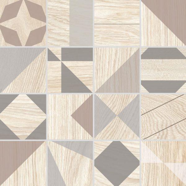 mosaico kaleido crema 30x30 600x600