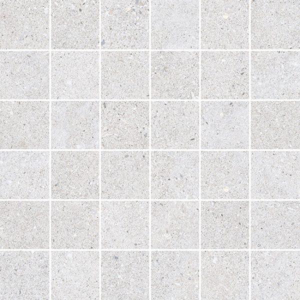 mosaico sassi blanco 30×30