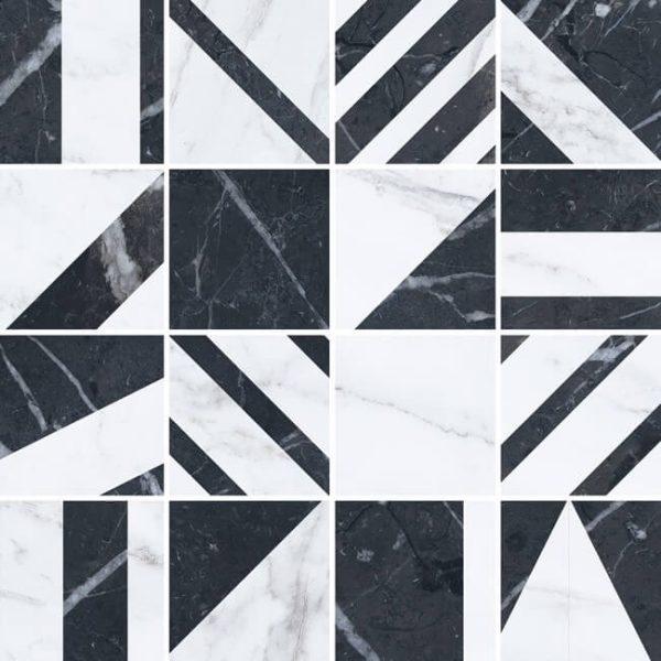 mosaico velvet geo negro 30x30 600x600