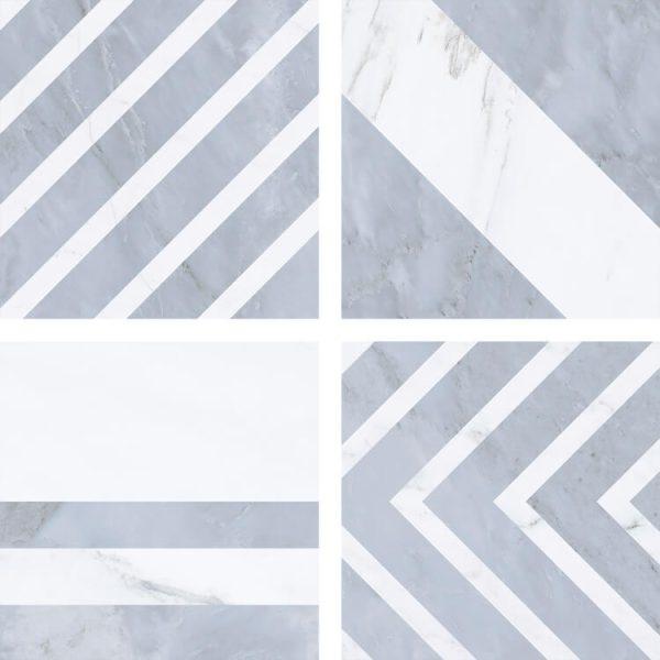 taco velvet geo gris 16,5×16,5