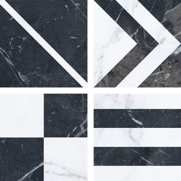 taco velvet geo negro 16,5×16,5